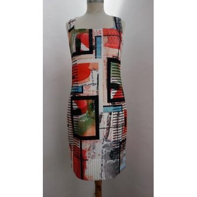 Foto van Eroke jurk polyesther creme zonder mouw