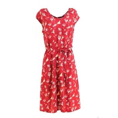 1e4434b3b98 Zilch jurk viscose lipstick flowerfield