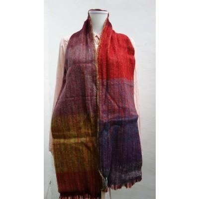 Foto van Inti sjaal wol handgeweven multi 1807m