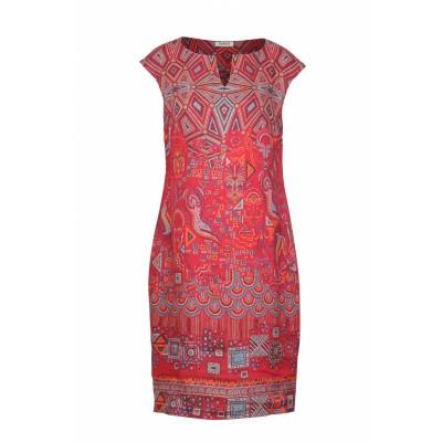 Foto van IVKO jurk linnen rood 191641