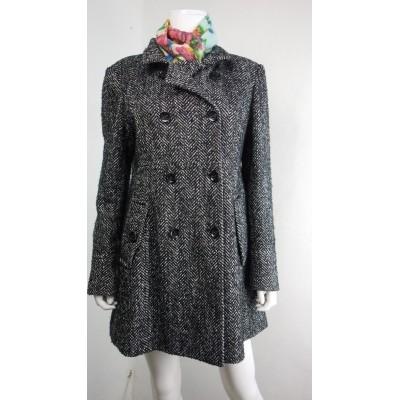 Foto van Beaumont jas wol tweed zwart L 40