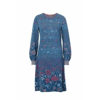 Foto van IVKO jurk blauw gebloemd 82524