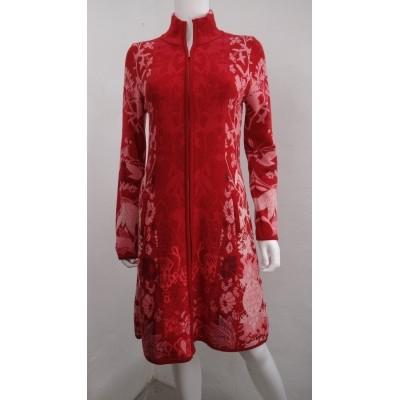 Foto van Kooi vest wol rood 17164