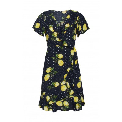 Foto van Smashed L jurk navy citroen 19005