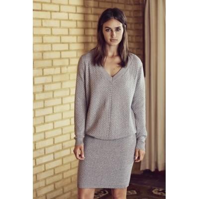 Foto van Kaffe sweater katoen grijs Stella