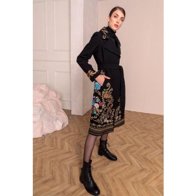 Foto van IVKO jas wol zwart geborduurd 202501