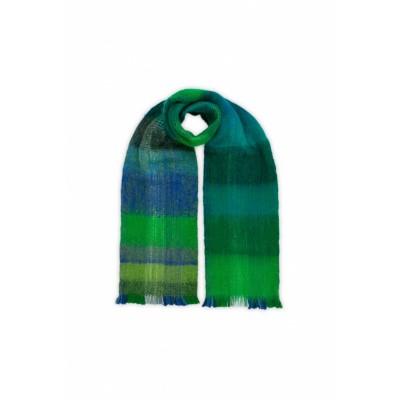 Foto van Inti sjaal alpaca handgeweven groen