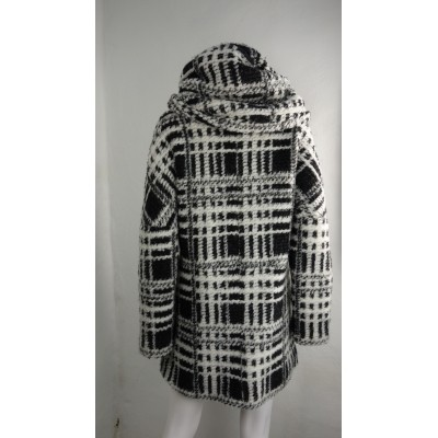 Foto van Beaumont jas wol zwart capuchon L 40