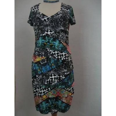 Foto van Eroke jurk slank vallend zwart blauw ABG30-P21
