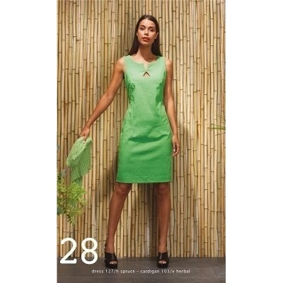 Foto van wax jurk viscose jade spruce