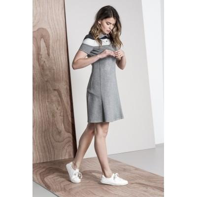 Foto van Kaffe jurk polo grijs cottonmix Nathalie