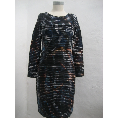 Foto van Eroke jurk elegant zwart blauw gevoerd L XL