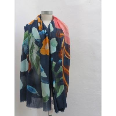 Foto van Oilily sjaal wol blau 80x190 afingerpaint