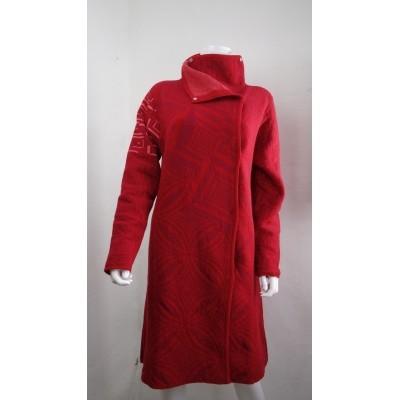 Foto van Kooi vest jas rood wol 17193