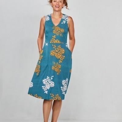 Foto van Zilch jurk viscose blauw