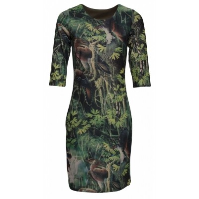 Foto van Smashed L jurk viscose zwart 17656