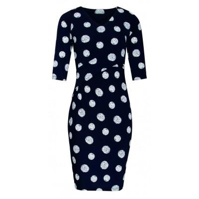 Foto van Smashed L jurk dark navy dots 18078