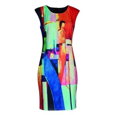 7df53b77f28 Smashed jurk meerkleurig 18098