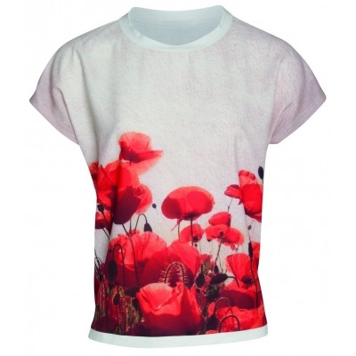 Foto van Smashed Lemon t-shirt poppies 17291