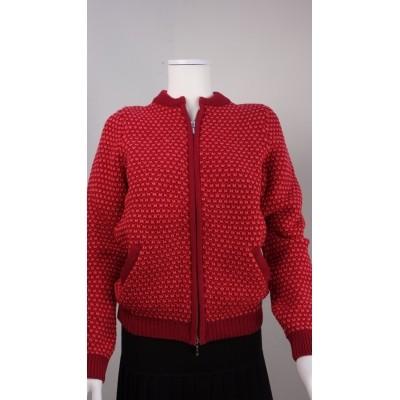 Foto van Kooi vest wol rood 17131