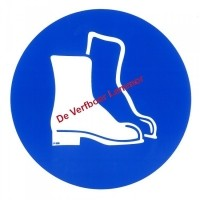 Foto van Pickup pictogram veiligheidschoenen dragen