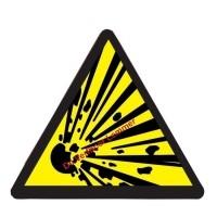 Foto van Pickup pictogram explosieve stof