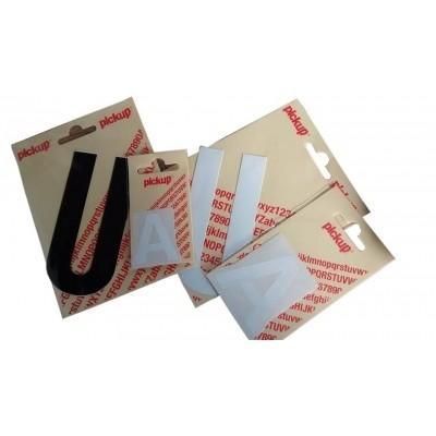 Pickup pictogram cijfers & letters verschillende soorten