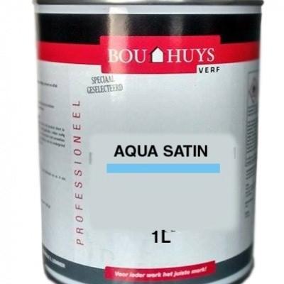 Bouhuys aqua satin zijdeglans wit 1 Liter