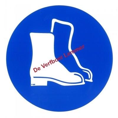 Pickup pictogram veiligheidschoenen dragen