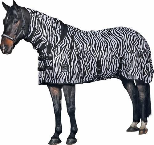 vliegendeken met hals zebra print