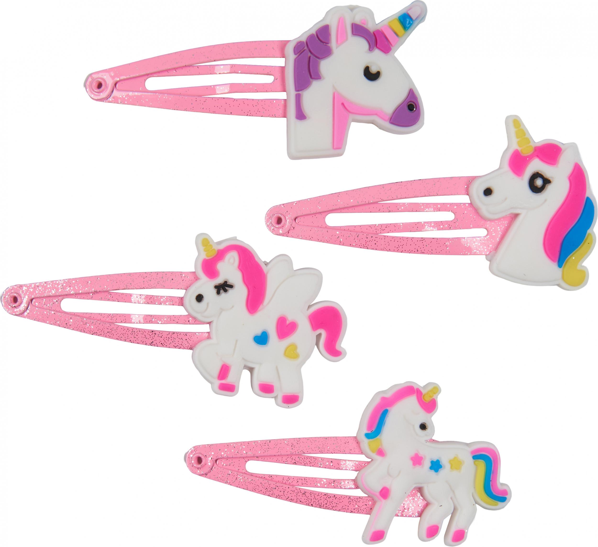 unicorn haarclips 4st