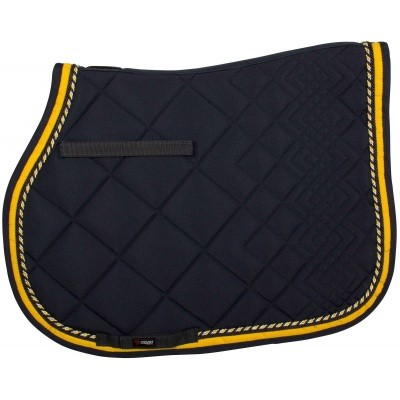 CATAGO Diamond zadelonderlegger navy/geel