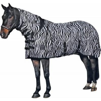 Vliegendeken met hals zebra design