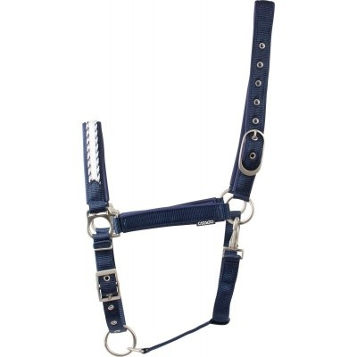 Foto van CATAGO Diamond halster navy/wit