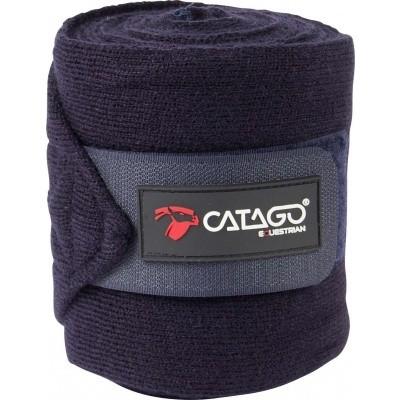 CATAGO gebreide bandages navy 4st