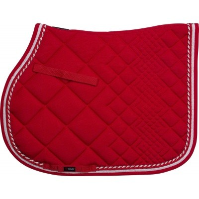 CATAGO Diamond zadelonderlegger rood/wit