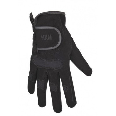 Foto van HKM paardrijhandschoenen softy met elastische inzet