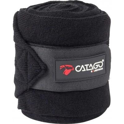CATAGO gebreide bandages zwart 4st