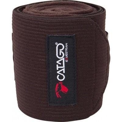 CATAGO fleece/elastic bandages bruin 4st