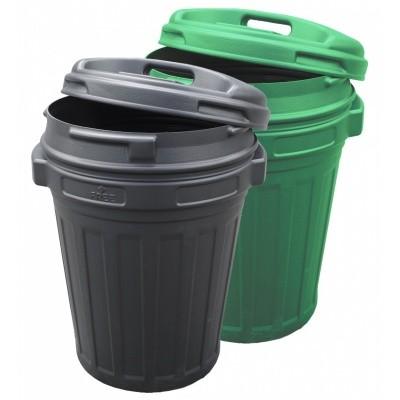 Foto van Voerton 70 liter Groen met draaisluiting