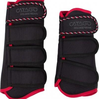 CATAGO Diamond dressage boots zwart/rood