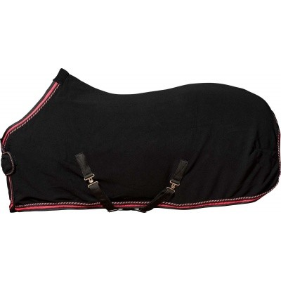 CATAGO Diamond fleece deken zwart/rood