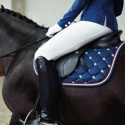 Horse Guard suede zadeldekje blauw