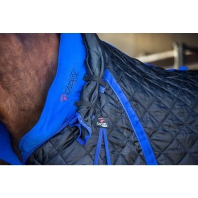 CATAGO staldeken met halsdeel 300gr zwart met blue