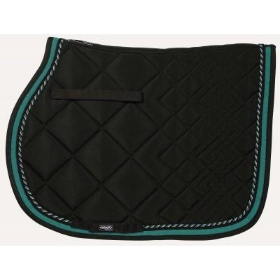 CATAGO Diamond zadelonderlegger zwart/turquoise