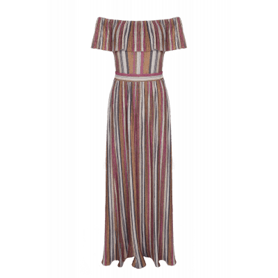 Maria Tailor Dionini Dress Pink Lurex stripe