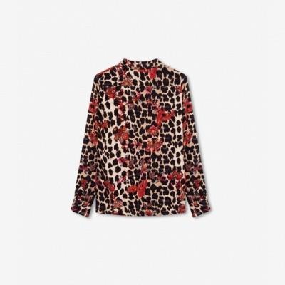 Alix the Label Leopard Flower Blouse