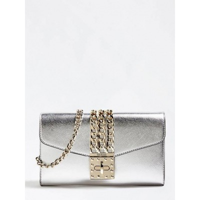 Foto van Guess Prisma mini clutch zilver