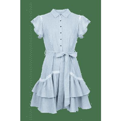 Foto van Maria Tailor Delorian dress Blue white stripe