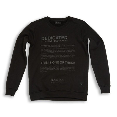 Foto van Gabba Thomas Dedicated O-neck sweat black